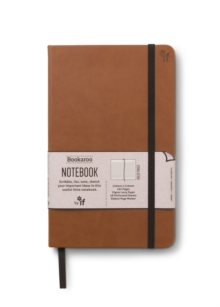 Bookaroo Notebook  - Brown, Notebook / blank book Book