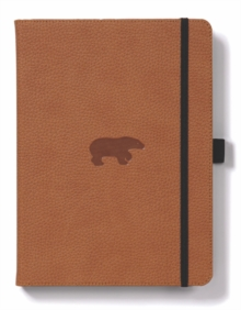 Dingbats A5+ Wildlife Brown Bear Notebook - Plain, Paperback Book