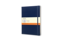 Moleskine Extra Large Prussian Blue Hard Ruled Notebook, Paperback Book