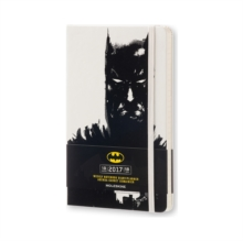 2017 Moleskine Batman Limited Edition White Large Weekly Notebook 18 Months Hard, Paperback Book