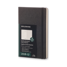2017 Moleskine Large Weekly Notebook 18 Months Hard, Paperback Book