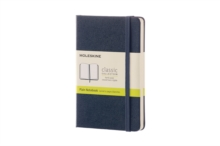 Moleskine Sapphire Blue Pocket Plain Notebook Hard, Paperback Book