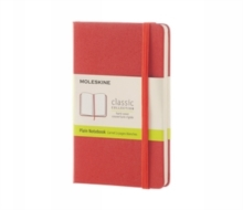 Moleskine Coral Orange Pocket Plain Notebook Hard, Paperback Book