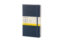 Moleskine Sapphire Blue Large Squared Notebook Hard, Paperback Book