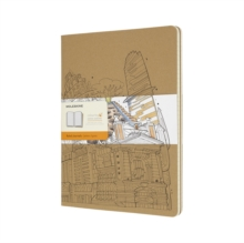 Moleskine Colouring Cover Cahier Notebook Kraft Brown Extra Large Ruled : The Wandering City 2016, Paperback Book