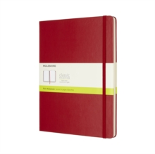 MOLESKINE SCARLET RED EXTRA LARGE PLAIN, Hardback Book