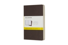 Moleskine Coffee Brown Pocket Squared Cahier Journal (set Of 3), Paperback Book