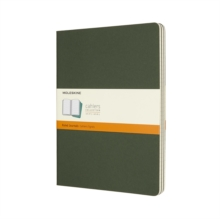 Moleskine Myrtle Green Extra Large Ruled Cahier Journal (set Of 3), Paperback Book