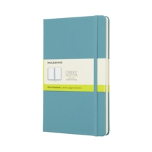 Moleskine Reef Blue Notebook Large Plain Hard, Paperback Book