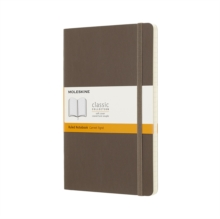 Moleskine Earth Brown Notebook Large Ruled Soft, Paperback Book