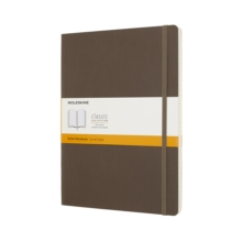 Moleskine Earth Brown Notebook Extra Large Ruled Soft, Paperback Book