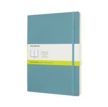 Moleskine Reef Blue Notebook Extra Large Plain Soft, Paperback Book