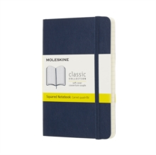Moleskine Sapphire Blue Notebook Pocket Squared Soft, Paperback Book