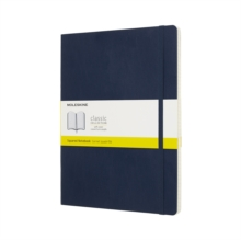 Moleskine Sapphire Blue Notebook Extra Large Squared Soft, Paperback Book