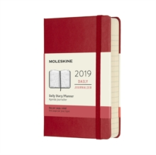 2019 Moleskine Notebook Scarlet Red Pocket Daily 12-month Diary Hard, Paperback Book