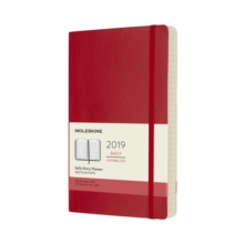 2019 Moleskine Scarlet Red Large Daily 12-month Diary Soft, Paperback Book