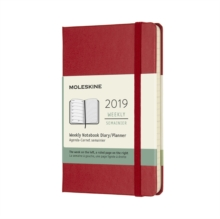2019 Moleskine Notebook Scarlet Red Pocket Weekly 12-month Diary Hard, Paperback Book