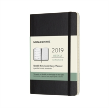 2019 Moleskine Notebook Black Pocket Weekly 12-month Diary Soft, Paperback Book