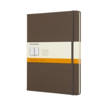 Moleskine Earth Brown Notebook Extra Large Ruled Hard, Paperback Book