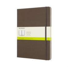 Moleskine Earth Brown Notebook Extra Large Plain Hard, Paperback Book