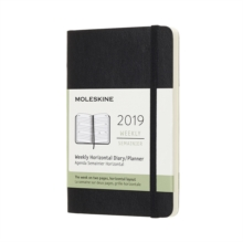 2019 Moleskine Horizontal Black Pocket Weekly 12-month Diary Soft, Paperback Book