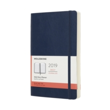 2019 Moleskine Sapphire Blue Large Daily 12-month Diary Soft, Paperback Book