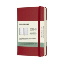 2019 Moleskine Notebook Scarlet Red Pocket Weekly 18-month Diary Hard (July 2018 to December 2019), Paperback Book