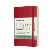 2019 Moleskine Notebook Scarlet Red Pocket Weekly 18-month Diary Soft (July 2018 to December 2019), Paperback Book