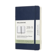 2019 Moleskine Notebook Sapphire Blue Pocket Weekly 18-month Diary Soft (July 2018 to December 2019), Paperback Book