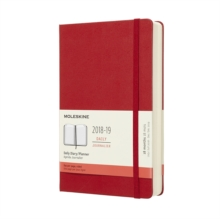 2019 Moleskine Notebook Scarlet Red Large Daily 18-month Diary Hard (July 2018 to December 2019), Paperback Book
