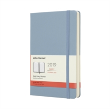 2019 Moleskine Notebook Cinder Blue Large Daily 12-month Diary Hard, Paperback Book
