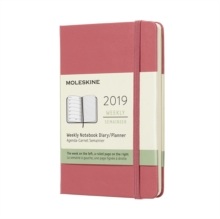 2019 Moleskine Notebook Daisy Pink Pocket Weekly 12-month Diary Hard, Paperback Book