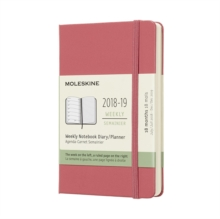 2019 Moleskine Notebook Daisy Pink Pocket Weekly 18-month Diary Hard, Paperback Book
