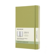 2019 Moleskine Notebook Lichen Green Large Weekly 18-month Diary Hard (July 2018 to December 2019), Paperback Book