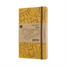 2019 Moleskine Harry Potter Limited Edition Notebook Beige Large Weekly 12-month Diary, Paperback Book