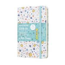 2019 Moleskine Petit Prince Limited Edition Notebook White Pocket Weekly 18-month Diary, Paperback Book