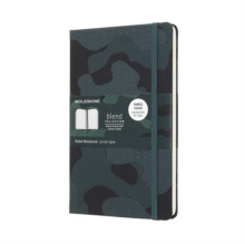 Moleskine Camouflage Green Limited Collection Notebook Large Ruled, Paperback Book