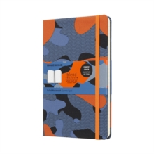 Moleskine Camouflage Orange Limited Collection Notebook Large Ruled, Paperback Book
