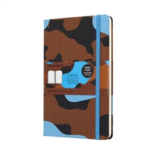 Moleskine Camouflage Blue Limited Collection Notebook Large Ruled, Paperback Book