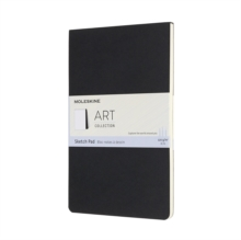 ART LARGE SKETCH PAD BLACK, Hardback Book