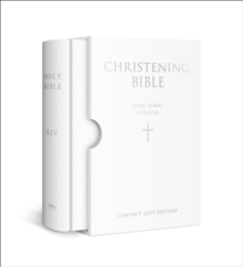 HOLY BIBLE: King James Version (KJV) White Compact Christening Edition, Leather / fine binding Book
