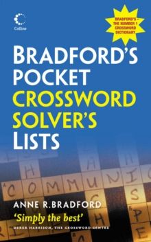 Collins Bradford's Pocket Crossword Solver's Lists, Paperback Book