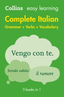 Easy Learning Italian Complete Grammar, Verbs and Vocabulary (3 books in 1), Paperback / softback Book