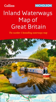 Collins Nicholson Inland Waterways Map of Great Britain, Sheet map, folded Book