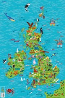 Children's Wall Map of the United Kingdom and Ireland, Sheet map, rolled Book