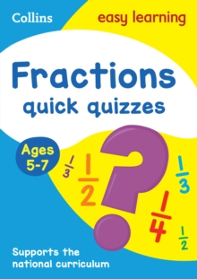 Fractions Quick Quizzes Ages 5-7, Paperback Book