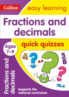 Fractions & Decimals Quick Quizzes Ages 7-9, Paperback / softback Book