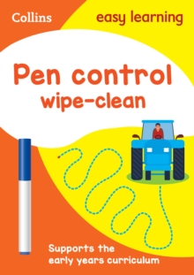Pen Control Age 3-5 Wipe Clean Activity Book : Reception English Home Learning and School Resources from the Publisher of Revision Practice Guides, Workbooks, and Activities., Other book format Book
