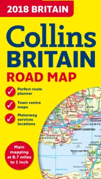 2018 Collins Map of Britain, Sheet map, folded Book