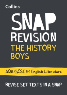 The History Boys: AQA GCSE 9-1 English Literature Text Guide, Paperback / softback Book